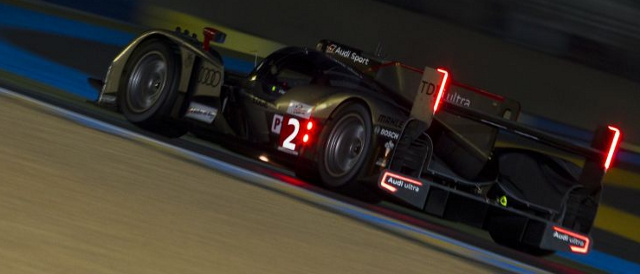 Audi R18 during the 2011 24 Hours of Le Mans (Photo Credit: Rolex/Jad Sherif)