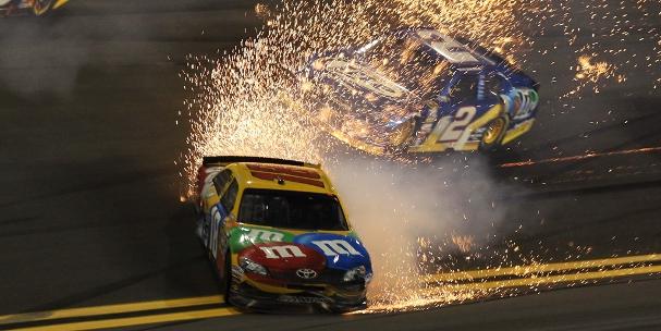 Kyle Busch, 2012 Budweiser Shootout (Matthew Stockman/Getty Images)
