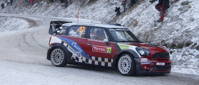 MINI driver Dano Sordo in action on the Monte Carlo Rally (Photo Credit: BMW AG)
