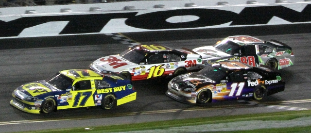 Matt Kenseth leads the pack at Daytona (Photo Credit: Jerry Markland/Getty Images for NASCAR)
