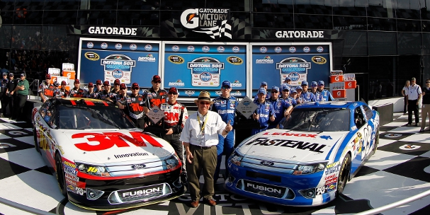 Roush-Fenway Racing after Daytona 500 qualifying (Photo Credit: Todd Warshaw/Getty Images for NASCAR)