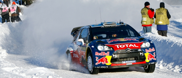 Sebastien Ogier - then a Citroen driver - on the 2011 Rally Sweden (Photo Credit: Citroen Racing Media)