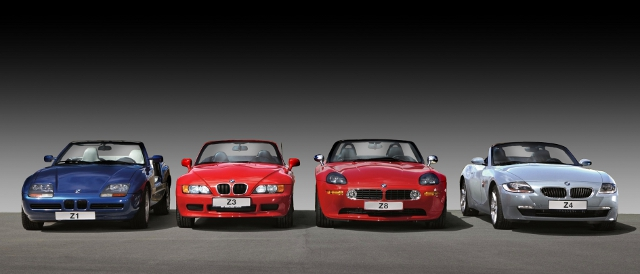 1, 3, 8, 4 - BMW's range of Z-Cars (Photo Credit: Silverstone Classic)