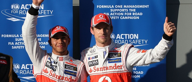Lewis Hamilton and Jenson Button - Photo Credit: Vodafone McLaren Mercedes