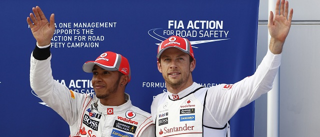 Lewis Hamilton and Jenson Button - Photo Credit: Vodafone McLaren Mercedes