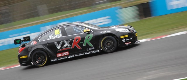Thorney Motorsport's Vauxhall Insignia before the Paddock Hill Bend off (Photo Credit: Chris Gurton Photography)