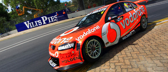 Craig Lowndes takes pole at the Clipsal 500 Photo credit: Team Vodafone