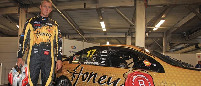 Steve Johnson with the Jim Beam Racing #17 'Honey' entry
