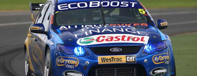 Mark Winterbottom wins 'Qualifying Race' at Albert Park Photo credit Ford Performance Racing
