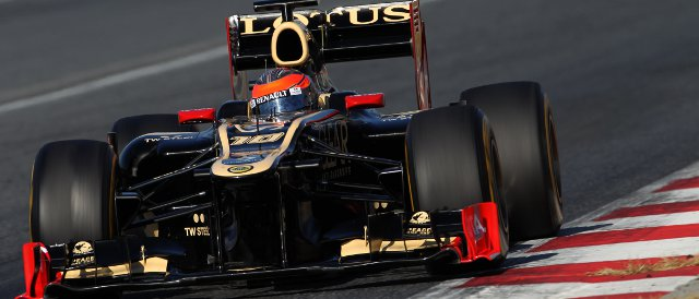 Romain Grosjean topped the timesheets for the second time in two days today in Barcelona - Photo Credit: Lorenzo Bellanca/LAT Photographic