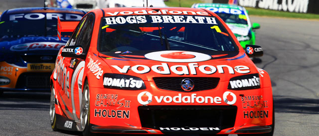 Jamie Whincup Clipsal 500 Race One Photo credit: TeamVodafone