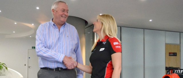 Maria De Villota is welcomed to Marussia - Photo Credit: Marussia F1 Team