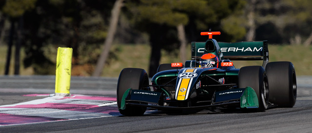 Alexander Rossi testing the Arden Caterham FR3.5 - Photo: Renaul Sport Media