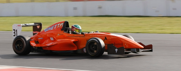 Seb Morris In His Ginetta-backed Formula Renault At Silverstone - Photo Credit: Jakob Ebrey Photography