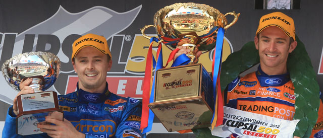 FPR duo Will Davison and Mark Winterbottom Clipsal 500. Photo credit: Ford Performance Racing