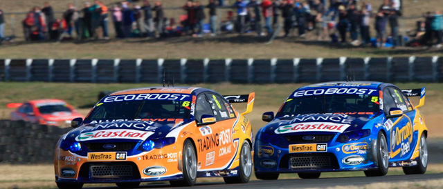 Will Davison leads home FPR 1-2 in Tasmania Photo credit: Ford Performance Racing