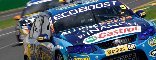 Winterbottom leads home a Ford 1-2-3 in Race 2 Photo credit: Ford Performance Racing