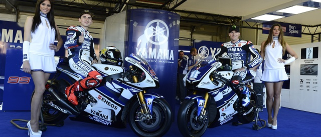 Jorge Lorenzo & Ben Spies - Photo Credit: Yamaha Factory Racing