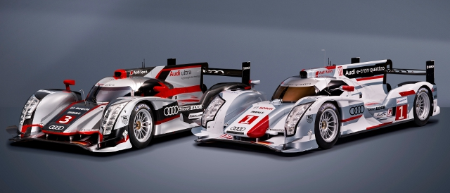 Audi's new-for-2012 Le Mans Prototypes - R18 ultra and R18 e-tron quattro (Photo Credit: Audi Motorsport)