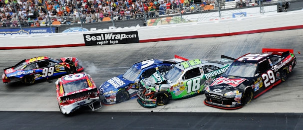 Briston pile-up 2012 (Photo Credit: John Harrelson/Getty Images for NASCAR)