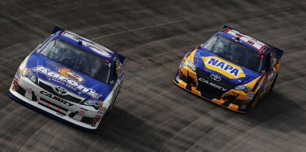 Brian Vickers and Martin Truex Jr. (Photo Credit: Justin Edmonds/Getty Images for NASCAR)