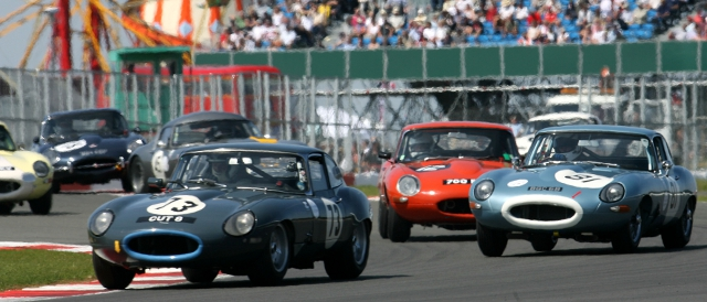 Over 50 cars on track made the E-Type Challenge one of the highlights of last year's event (Photo Credit: Silverstone Classic)