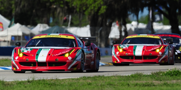AF Corse Ferrari 458, 12 Hours of Sebring (Photo Credit: DPPI)