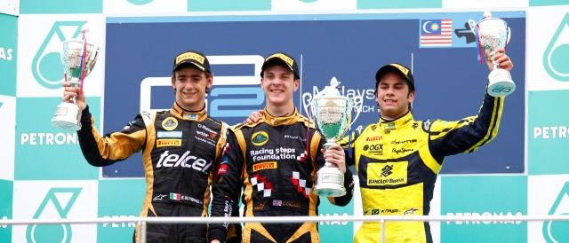 Esteban Gutierrez, James Calado and Felipe Nasr - Photo Credit: Alastair Staley/GP2 Series Media Service