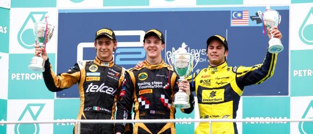 Esteban Gutierrez, James Calado and Felipe Nasr - Photo Credit: Alastair Staley/GP2 Series Media Service