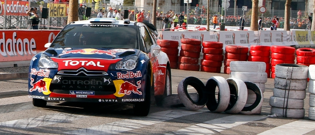 Mikko Hirvonen tackles a Super Special stage (Photo Credit: Citroen Racing Media)