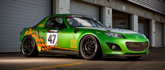 The Mazda MX-5 GT4 will battle Lotus and Ginetta in the Avon Tyres British GT Championship (Photo Credit: Mazda)