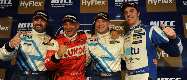 Yvan Muller, Gabriele Tarquini, Rob Huff and Pepe Oriola - Photo Credit: fiawtcc.com