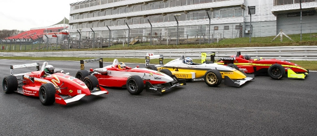 F3 Cup cars at the 2012 MSVR season launch at Brands Hatch