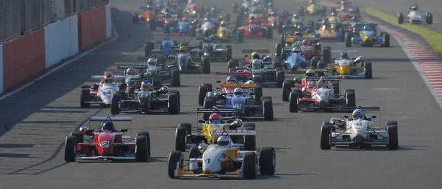 The start of last year's record breaking F3 Cup race at Silverstone