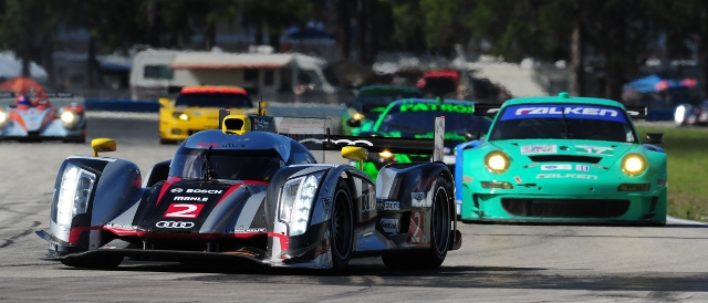 No.2 Audi R18 'ultra' during practice for the 60th 12 Hours of Sebring (Photo Credit: DPPI)