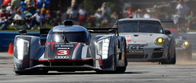 no.3 Audi R18 'ultra' leads the 12 Hours of Sebring at half distance (Photo Credit: Jean Michel le Meur)