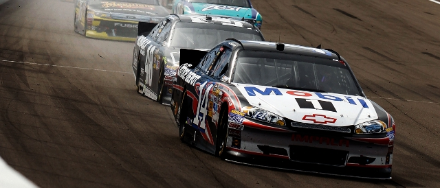 Tony Stewart scored his first Sprint Cup career win in Las Vegas (Photo Credit: Todd Warshaw/Getty Images for NASCAR)