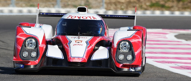 Toyota TS030 Hybrid in testing (Photo Credit: Toyota)