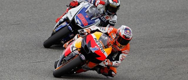 Casey Stoner and Jorge Lorenzo - Photo Credit: MotoGP.com