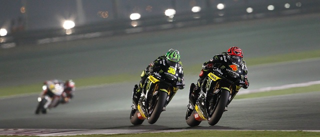 Crutchlow (#35) chases Dovizioso (#4) early in the race - Photo Credit: MotoGP.com