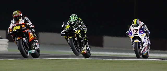 Cal Crutchlow (centre) - Photo Credit: MotoGP.com