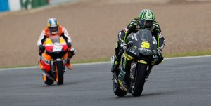 Cal Crutchlow leads Dani Pedrosa - Photo Credit: MotoGP.com