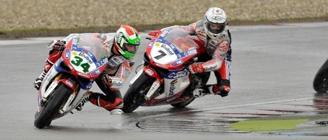 Davide Giugliano leads Carlos Checa - Photo Credit: Althea Racing