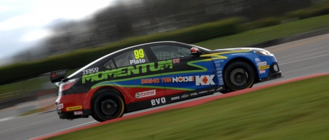 Jason Plato set the top time early and, helped by a rain shower, held on for pole position (Photo Credit: Chris Gurton Photography)