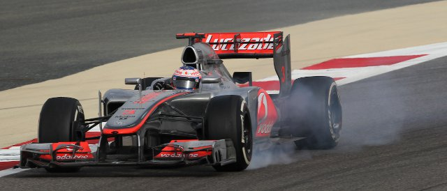 Jenson Button struggled with the balance of his car throughout the race in Bahrain - Photo Credit: Vodafone McLaren Mercedes