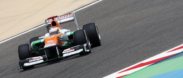 Force India did not get much TV-time during qualifying today, so here is evidence, at least, that Paul di Resta was out on track - Photo Credit: Sahara Force India F1 Team