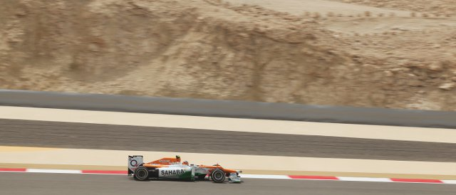 Nico Hulkenberg, like team-mate Paul di Resta, completed 26 laps during Free Practice 1 today in Bahrain - Photo Credit: Sahara Force India F1 Team
