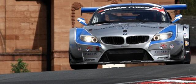 The Ecurie Ecosse BMW Z4 rounds Lodge Corner (Photo Credit: Chris Enion)