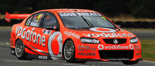 Jamie Whincup takes Race Two of the Tasmania Challenge Photo credit: TeamVodafone