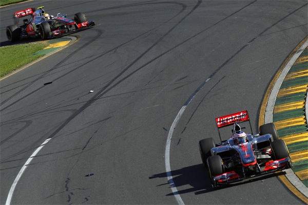 A flying start to 2012 for Jenson Button and McLaren - Photo: Vodafone McLaren Mercedes